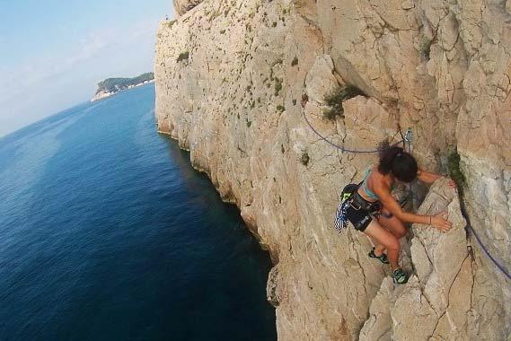 Climbing, paragliding